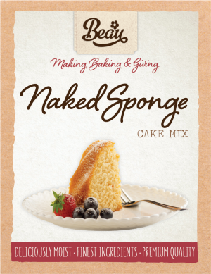 Beau Products Naked Sponge Cake Mix