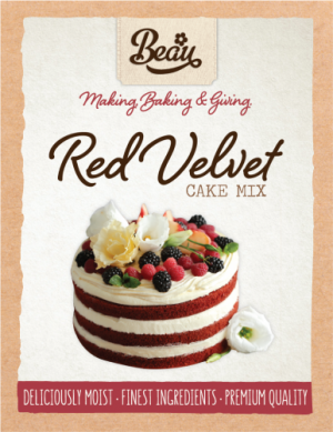 Beau Products Red Velvet Cake Mix